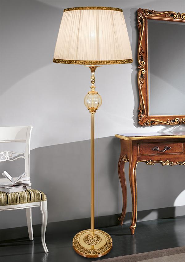 luci classiche piantana lampada da terra classica in ottone